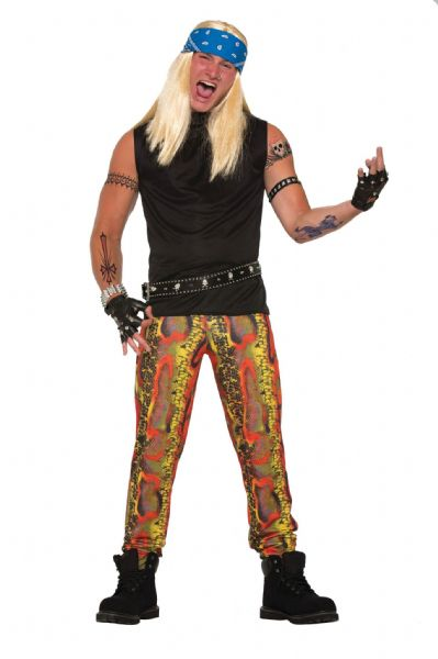 Adult Snake Skin Rocker Pants Costume Halloween Serpant Cosmetic Artist